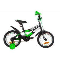 """Детский велосипед Formula 14"""" RACE рама-8,5"""" 2019 черно-салатовый (OPS-FRK-14-003)"""