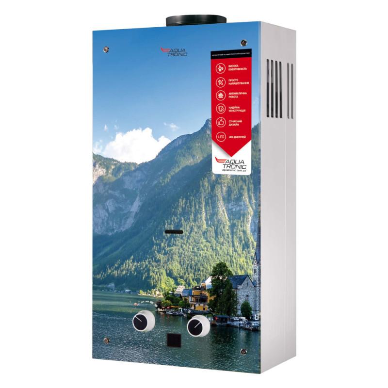 Колонка димохідна газова Aquatronic JSD20-AG208 10 л скло (гори)