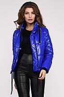 """Женская демисезонная куртка синяя """"44"""" (18751.2.1)"""