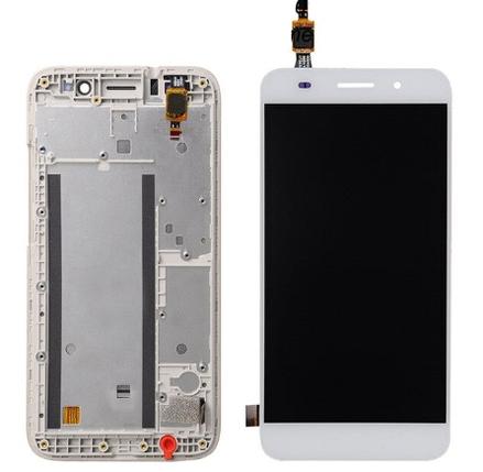Дисплей (экран) для Huawei Y3 2017 CRO-L22 с сенсором (тачскрином) и рамкой белый Оригинал, фото 2