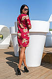 Сукня вільного А - крою в великий квітковий принт, 2цвета, Р-н. 46,48,50,52 Код 889В, фото 2