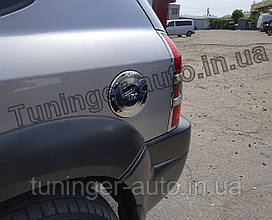 Хром-накладки на лючок бензобака Hyundai Tucson 2004-2013 (Autoclover/Корея/A215)