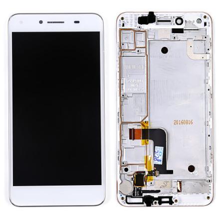 Дисплей (экран) для Huawei Y5 II CUN-U29 с сенсором (тачскрином) и рамкой белый