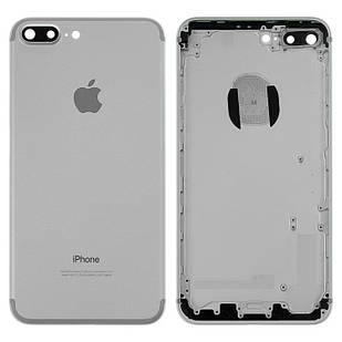Корпус для iPhone 7 Plus, с держателем SIM-карты, с боковыми кнопками, серебристый