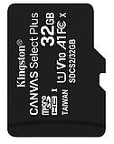Карта памяти Kingston microSDHC 32GB Canvas Select Plus 10 для видеорегистратора, смартфона и других устройств, фото 2
