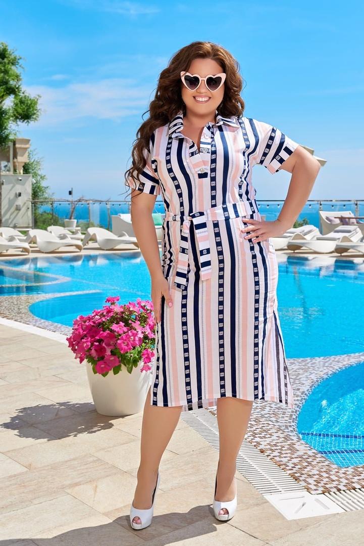 Летнее женское платье ткань: котон размер 50,52,54,56