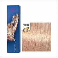 Wella Koleston Perfect Me + 10/03 Яркий блонд натуральный золотистый, 60 мл