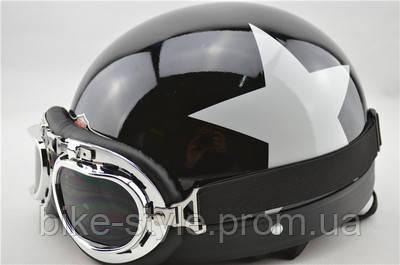 Каска для мотоцикла, мото каска, мотошолом з окулярами