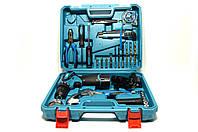 Набор инструментов и аккумуляторный шуруповерт MAKITA DF330DWE в кейсе  ( Шуруповерт Макита)