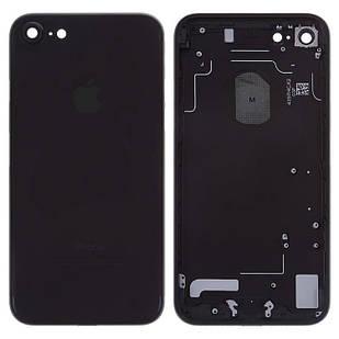 Корпус для iPhone 7, с держателем SIM-карты, с боковыми кнопками, черный, матовый