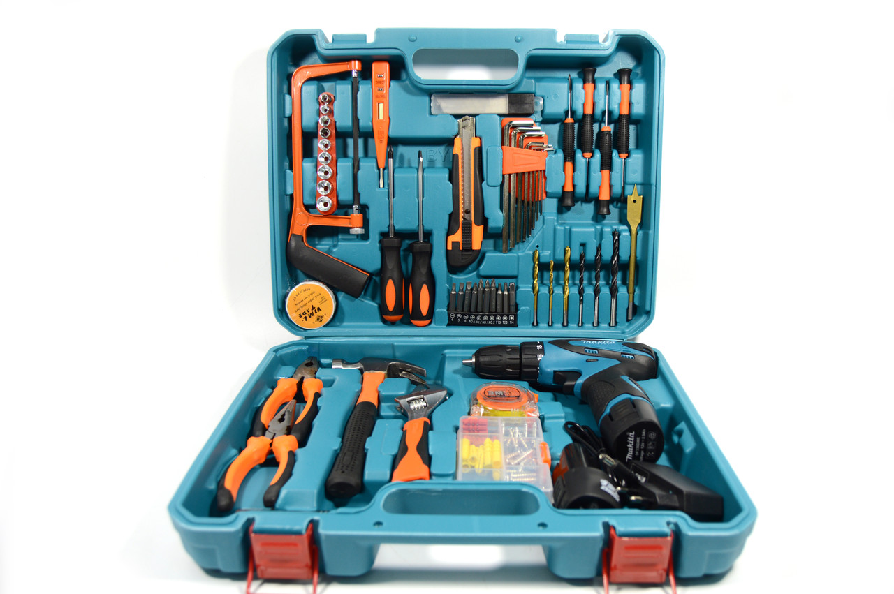 Аккумуляторный шуруповерт MAKITA DF330DWE и набор инструментов в кейсе ( Шуруповерт Макита)