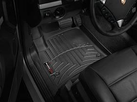 Ковры резиновые WeatherTech Porsche Cayenne 2003-2010 передние черные ( овальный крепеж )