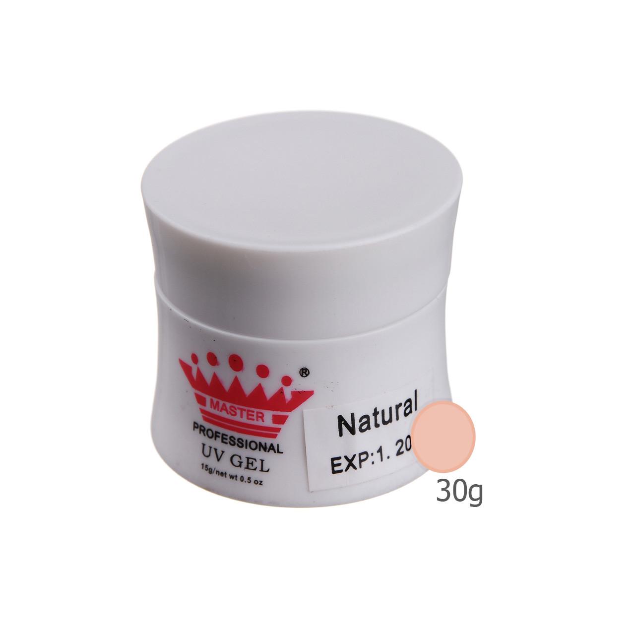 Гель для наращивания Master Professional UV Gel Natural 30g