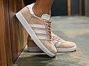 Кроссовки женские Adidas Gazelle замшевые персиковые спортивные, фото 3