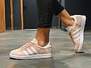 Кроссовки женские Adidas Gazelle замшевые персиковые спортивные, фото 5