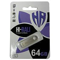 Флешка  64Gb Hi-Rali Shuter Silver