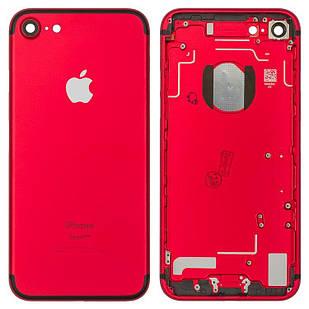 Корпус для iPhone 7, с держателем SIM-карты, с боковыми кнопками, красный