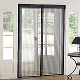 Антимоскитная сетка на дверь Magic Mesh (210*100 см.) защитная сетка штора на двери от комаров и мух, фото 9