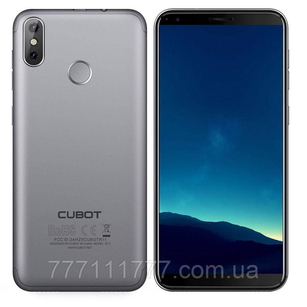 Смартфон кубот серый тонкий с большим дисплеем на 2 сим карты Cubot R11 gray 2/16ГБ
