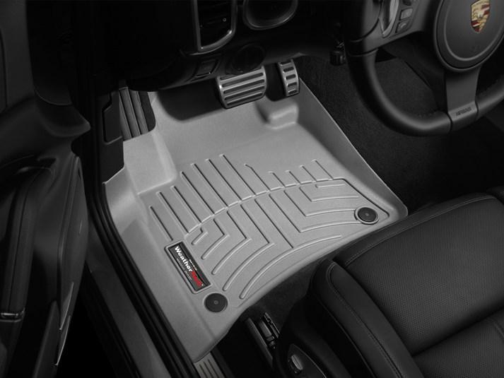Ковры резиновые WeatherTech VW Touareg 2011-2018  передние серые