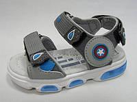 Детские босоножки, сандали для мальчика светятся Том М размер 21.