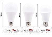 Светодиодная лампа LED SIV-E27-A65-15W-4100K 220V, фото 3
