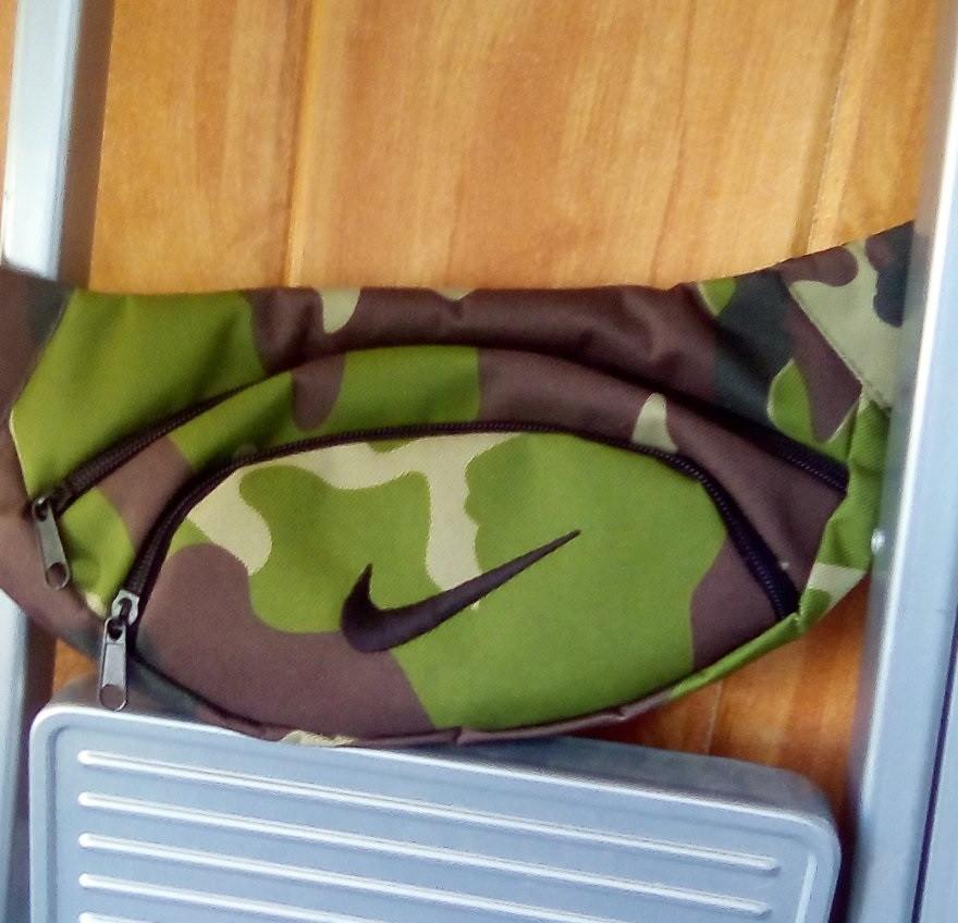 Поясная сумка Бананка сумка на пояс тканевая камуфляж  Найк .