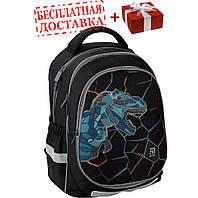 Рюкзак ортопедический Kite Education 700 Dino and skate, для мальчиков, черный K20-700M(2p)-3