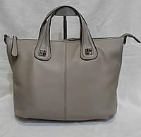 Стильная кожаная сумка . Женская сумка из натуральной кожи. Светлая сумка. летняя сумка. Бежевая сумка., фото 1