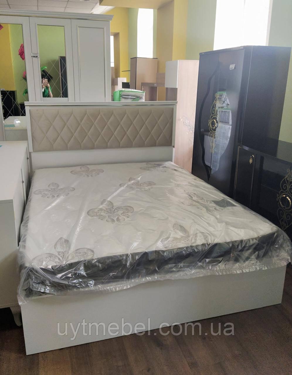 Ліжко Volga 1600х2000 + підйом. білий (Беллона)