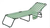Раскладушка Диагональ зелено-белая полоса (Витан)