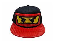 """Кепка-конструктор с прямым козырьком """"Ninjago"""" с логотипом / бейсболки лего"""