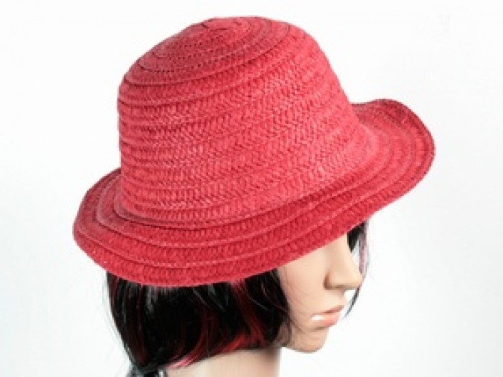 Соломенная шляпа Бебе 29 см красная 277308-07-СТ