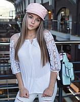 """Сорочка жіноча вишита на попліні+сітка """"Лілея"""", фото 1"""