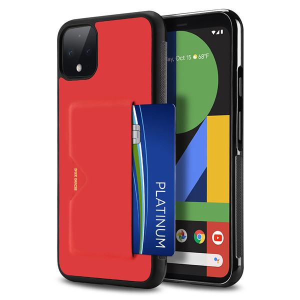 Dux Ducis Google Pixel 4 XL Pocard Series Back Cover Red Чехол Накладка Бампер