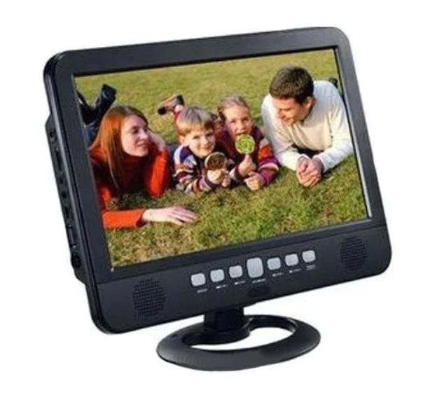 Телевізор акумуляторний LED TV NS-1001, USB, Екран 13,8 дюймів, 220 В та 12 В(ПортТел_NS-1001USB)