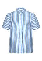 Блузка в полоску, цвет светло-голубой