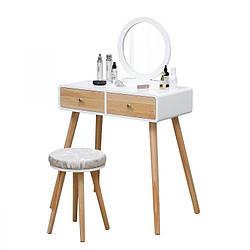 Туалетний столик GoodHome WHY-158 з дзеркалом + табурет (9253)