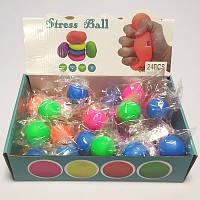 Игрушка MS 3179 4 см, антистресс, 24шт(5 цветов) в дисплее