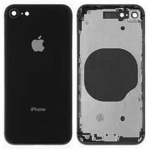 Корпус для iPhone 8, с держателем SIM-карты, с боковыми кнопками, черный