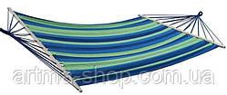Гамак двухместный Styleberg с перекладиной Синий Размер 200см на 100см оригинал