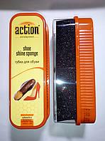 """""""ACTION"""" - губка для обуви Стандартная Чёрная"""