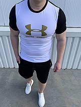 Черно-белый костюм футболка и шорты, фото 2
