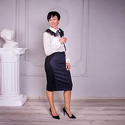 Женская комбинированная юбка «Абба» большого размера