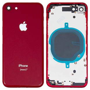 Корпус для iPhone 8, с держателем SIM-карты, с боковыми кнопками, красный