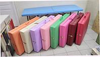 Массажная кушетка / Кушетка складная для наращивания ресниц. 185х60 см. Эко-кожа Италия, Люкс
