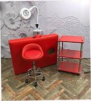 Кушетки для массажа / Кушетка косметологическая регулируемая. 185х60 см. Эко-кожа Италия, Люкс