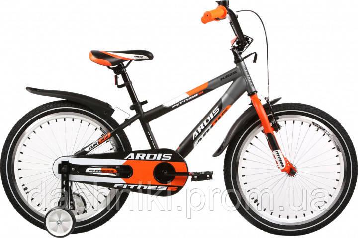 """Детский велосипед Ardis Fitness 16"""" 9"""" Черно-оранжевый (0434)"""