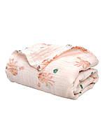Муслиновая пеленка 122*122 для девочки