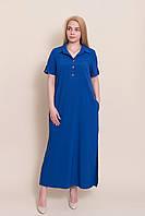 Довге плаття - сорочка електрик батал від виробника. Опт і роздріб. Розмір 52, 54, 56, 58, фото 1